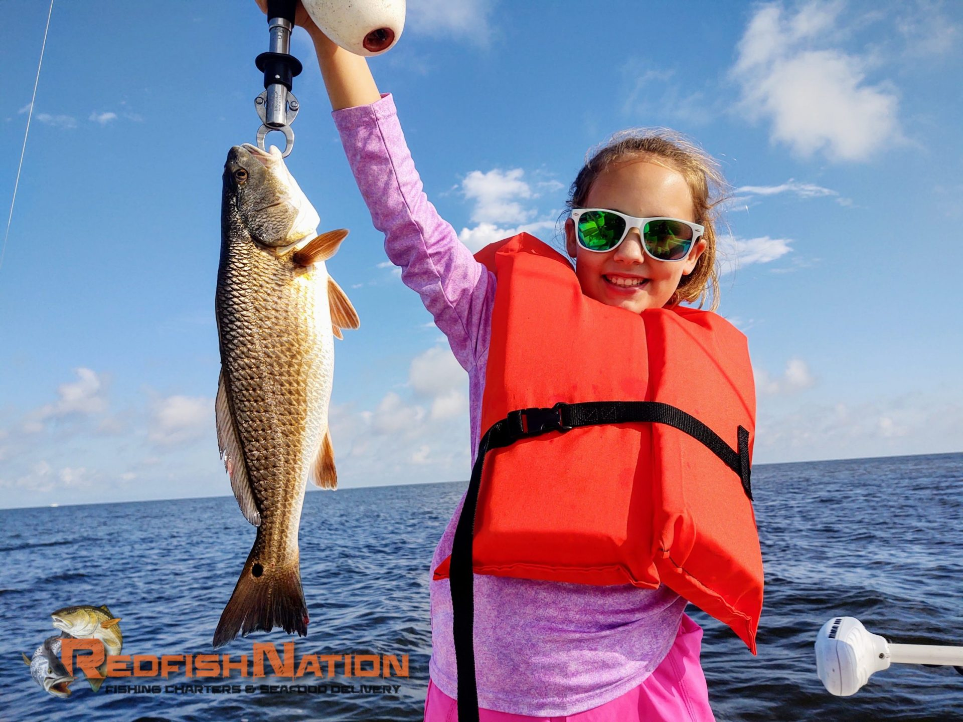 Guided Louisiana Fishing Charter - Redfish Nation - Happy Redfish Catch